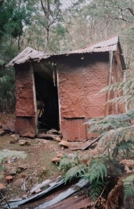 The somewhat battered Sunrise hut still standing in 1993.