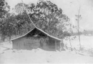 Tommy McCoy's hunting hut near Lake Ayr. Photo courtesy of the McCoy family.