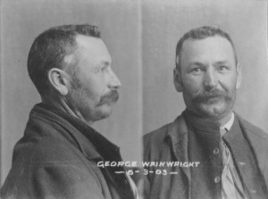 George Wainwright's mugshot, 1903. Courtesy of TAHO.