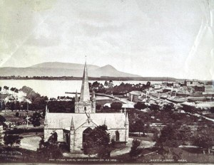 A shot of Port Arthur rebranded by Beattie. Joshua Anson was marketing the old penal settlement before Beattie began work as a professional photographer. Courtesy of TAHO.